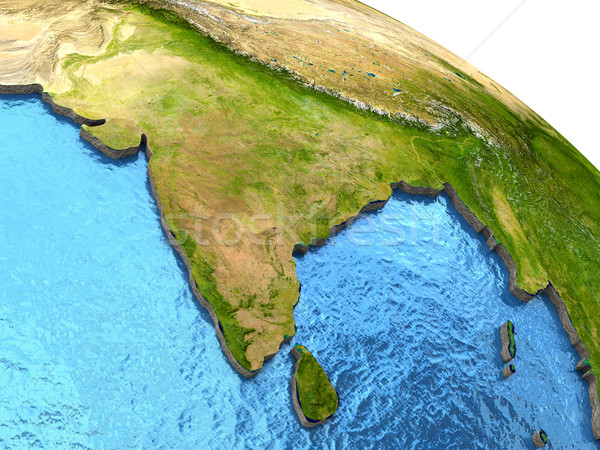 Subcontinente indiano terra Índia região detalhado modelo Foto stock © Harlekino