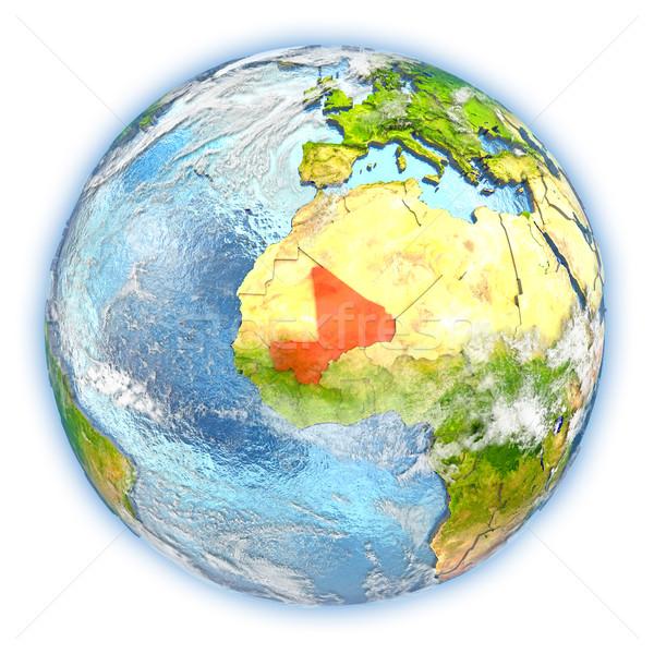 Mali on Earth isolated Stock photo © Harlekino