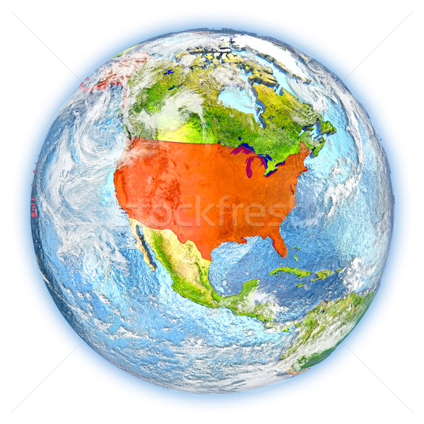 США земле изолированный красный планете Земля 3d иллюстрации Сток-фото © Harlekino