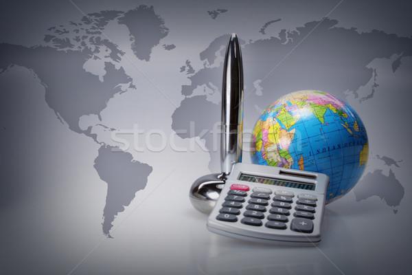 Stock fotó: Iroda · részletek · világszerte · dolgozik · üzlet · Föld