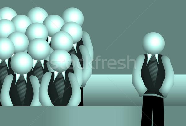 Csoport üzlet férfiak hangszóró tanár szülők Stock fotó © Hasenonkel