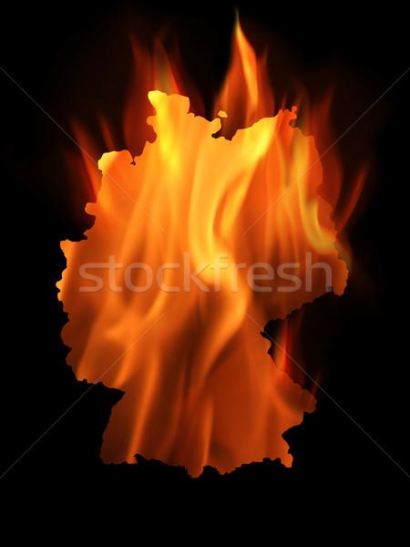 Burning Germany Stock photo © Hasenonkel