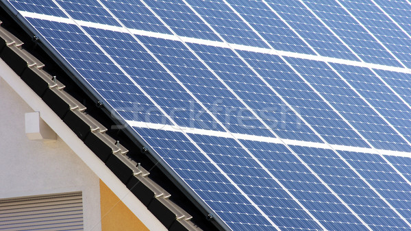 Housetop with solar Stock photo © Hasenonkel
