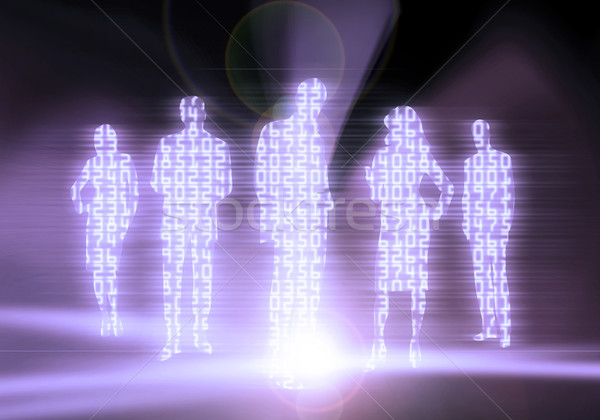 Binary Code Business People Stock photo © Hasenonkel
