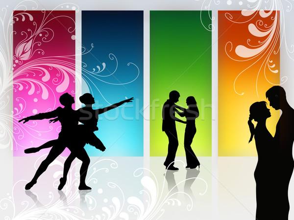 любви Dance пару танцы высокий окна Сток-фото © Hasenonkel