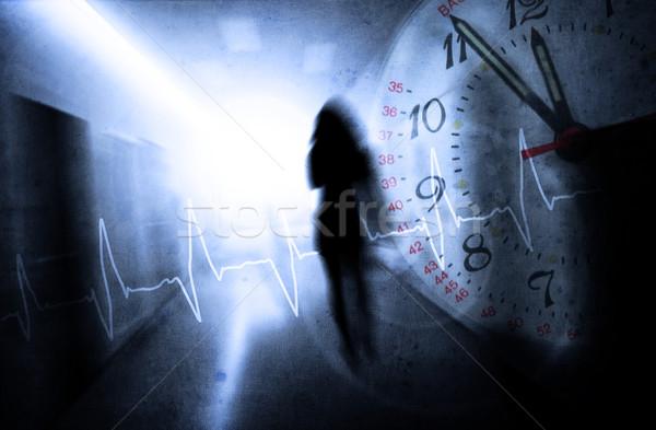 Pressione donna corridoio abstract luce ospedale Foto d'archivio © Hasenonkel