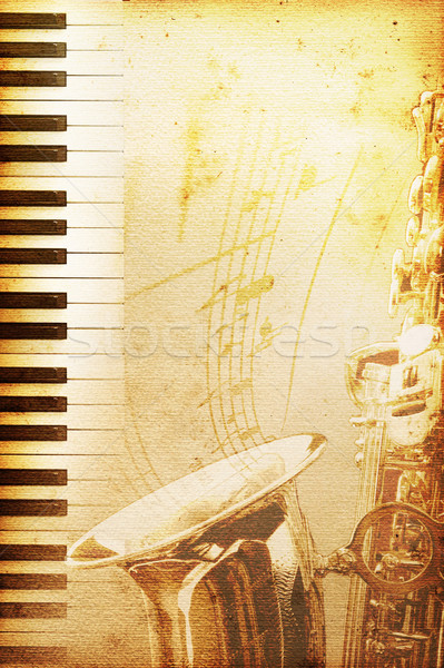 Vieux jazz papier moisi blues texture Photo stock © Hasenonkel