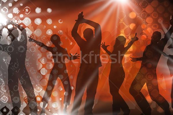 Disco veel mensen dansen vrouw dans Stockfoto © Hasenonkel