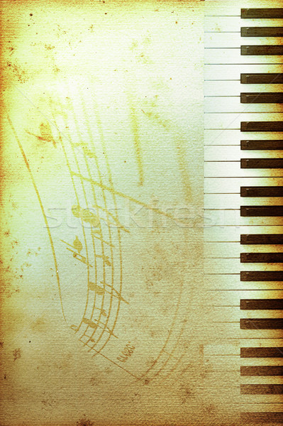 old piano paper Stock photo © Hasenonkel
