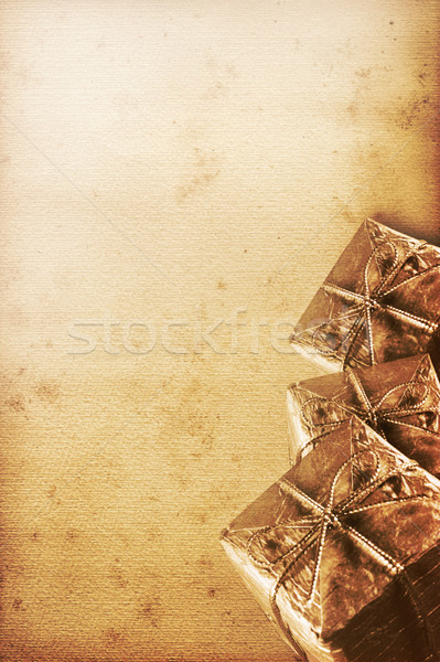old christmas paper Stock photo © Hasenonkel