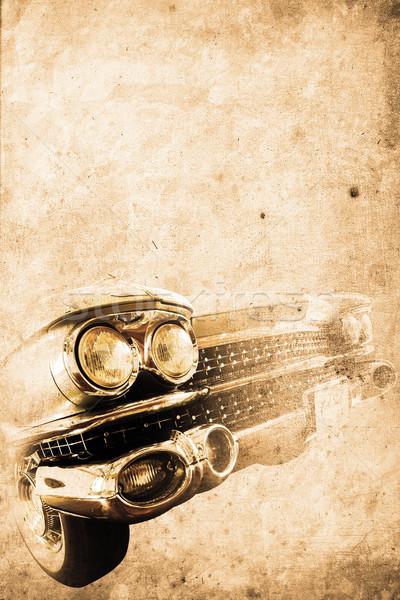 Oude auto oude amerikaanse auto retro Stockfoto © Hasenonkel