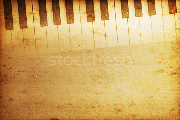 Hangversenyzongora öreg történelmi billentyűzet zene textúra Stock fotó © Hasenonkel