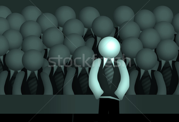 Gruppo insegnante business uomini speaker Foto d'archivio © Hasenonkel