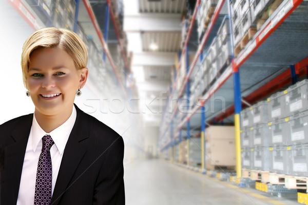 Giovani femminile manager transporti logistica industria Foto d'archivio © Hasenonkel