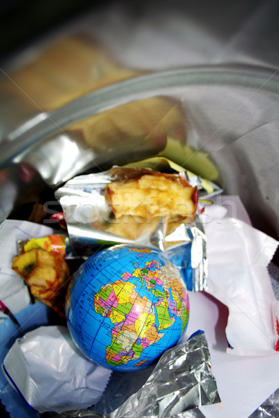 Monde déchets nature terre Afrique avenir Photo stock © Hasenonkel