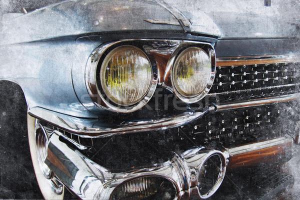 Stary samochód starych amerykański samochodu retro Zdjęcia stock © Hasenonkel