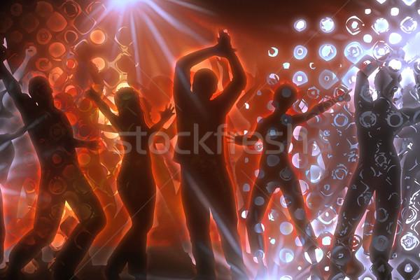 Discoteca muitos pessoas dança mulher dançar Foto stock © Hasenonkel