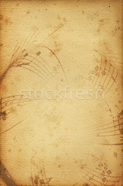 Zene öreg textúra háttér levél poszter Stock fotó © Hasenonkel