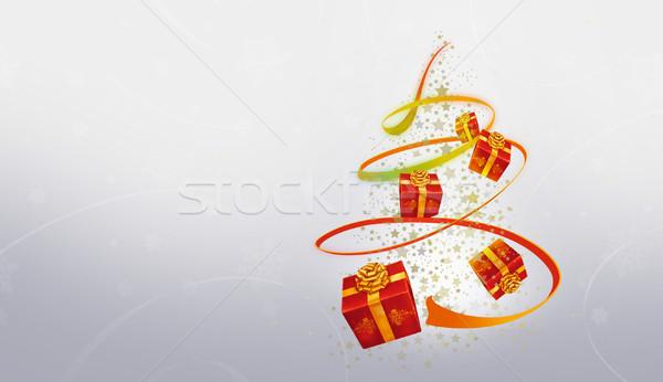 Christmas piękna streszczenie choinka nice projektu Zdjęcia stock © Hasenonkel