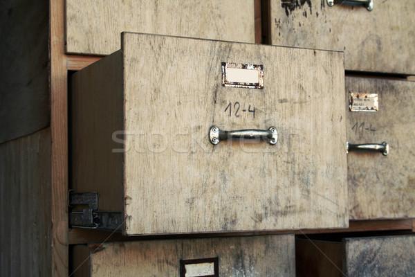 Vieux placard affaires bureau utilisé papier Photo stock © Hasenonkel
