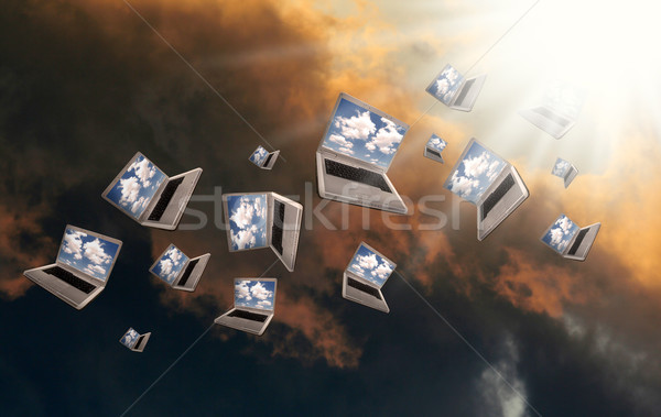 Cloudcomputing Stock photo © Hasenonkel