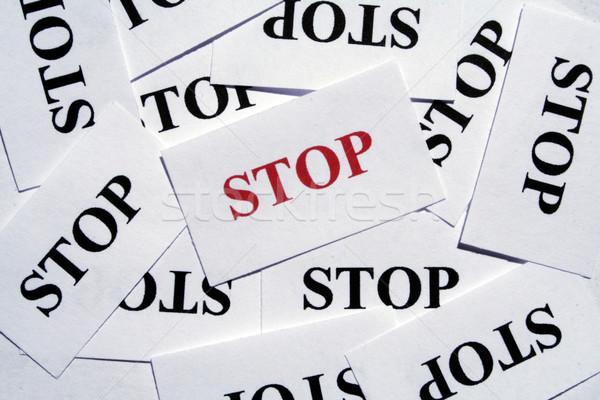 Stop Stock photo © Hasenonkel