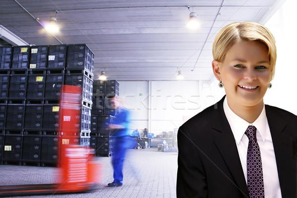 young female manager Stock photo © Hasenonkel