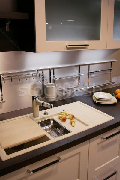 キッチン 詳細 現代 水 デザイン ウィンドウ ストックフォト © Hasenonkel