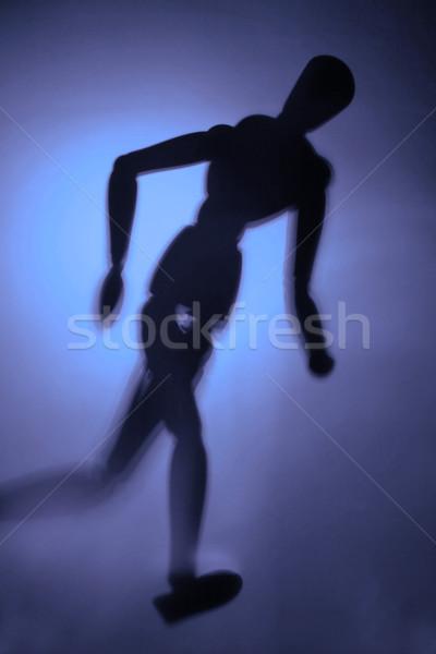 Alkat mozgás homályos sziluett sportok fiú Stock fotó © Hasenonkel