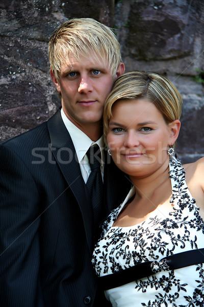 пару невеста жених свадьба день женщину Сток-фото © Hasenonkel
