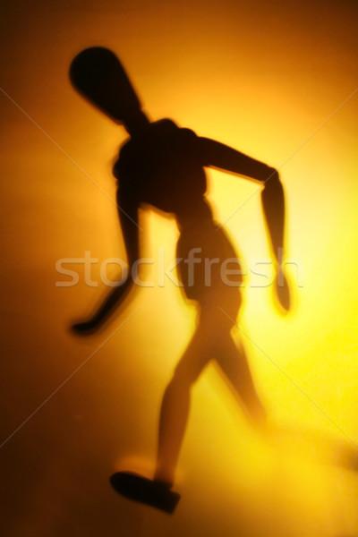 Figura movimiento silueta deportes nino Foto stock © Hasenonkel