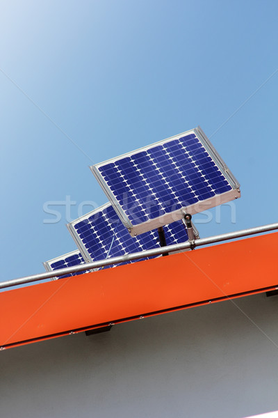 Housetop with solar Stock photo © Hasenonkel