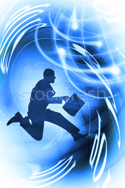 Stock photo: person under pressure