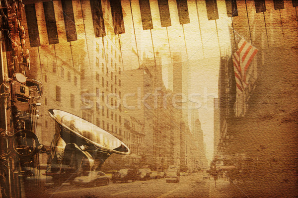 Broadway música velho histórico Nova Iorque fundo Foto stock © Hasenonkel