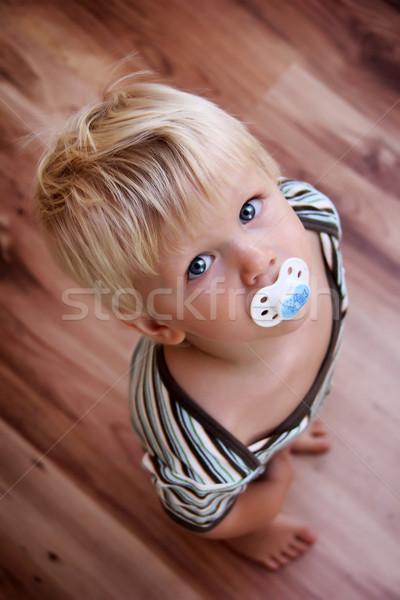 少年 小さな フローリング 顔 ストックフォト © Hasenonkel