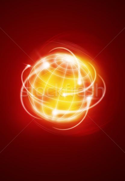 Internacional mundo tiroteio estrelas globo abstrato Foto stock © Hasenonkel