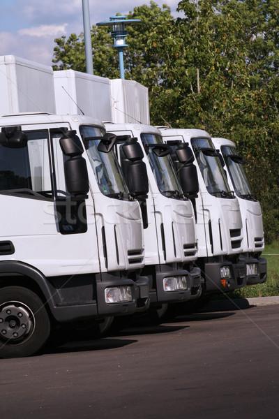 грузовиков четыре компания бизнеса грузовика Сток-фото © Hasenonkel