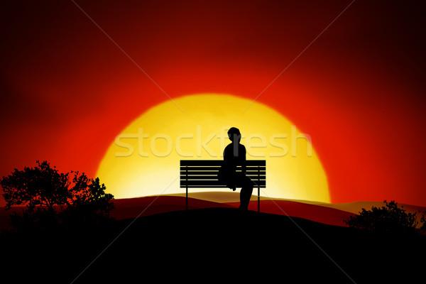 Loneliness Stock photo © Hasenonkel