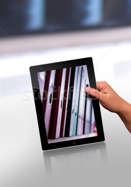 flat tablet pc  Stock photo © Hasenonkel
