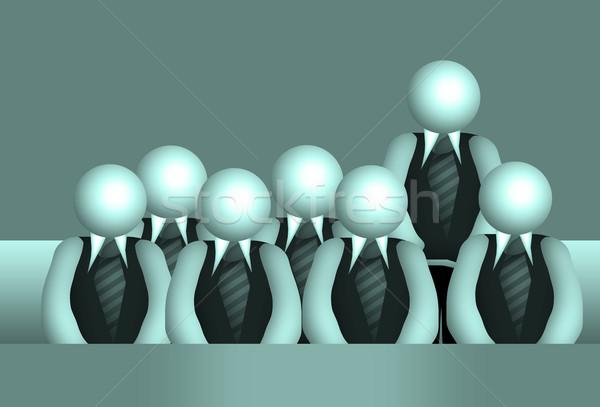Csoport iskolás tanár üzlet férfiak hangszóró Stock fotó © Hasenonkel