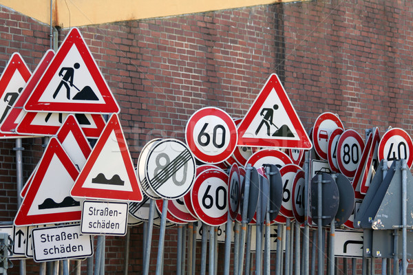 traffic signs Stock photo © Hasenonkel