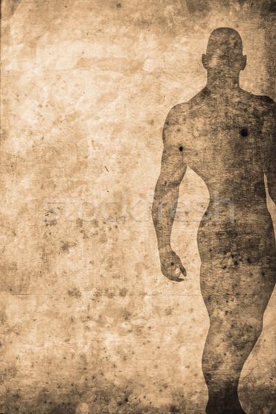 Vücut eski uygun vücut geliştirmeci Retro dizayn Stok fotoğraf © Hasenonkel