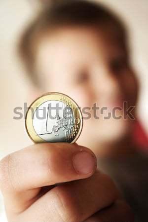 Euro działalności dziewczyna strony dzieci ciało Zdjęcia stock © Hasenonkel