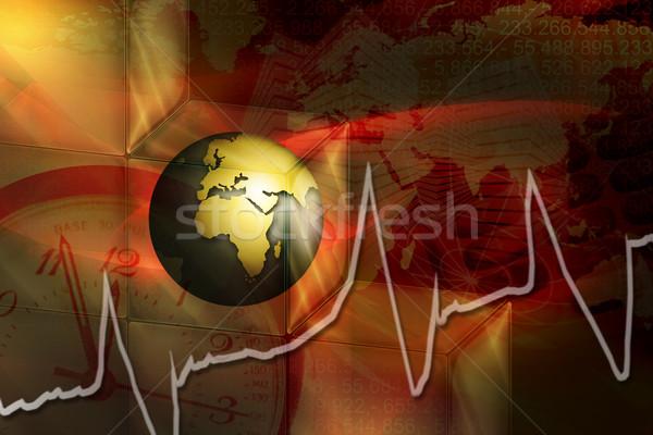 world in stress Stock photo © Hasenonkel