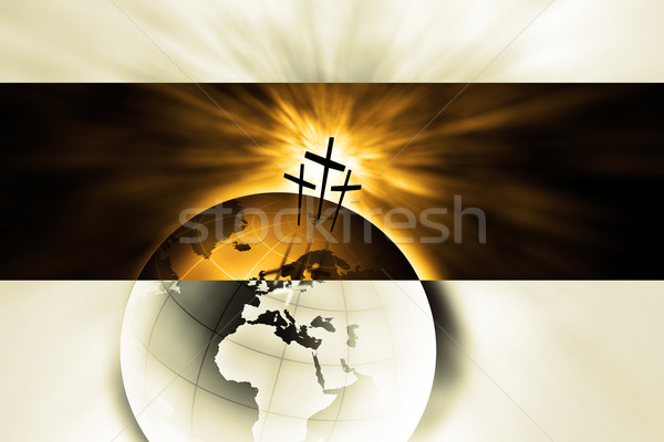 Creación Jesús Cristo cielo manos mundo Foto stock © Hasenonkel