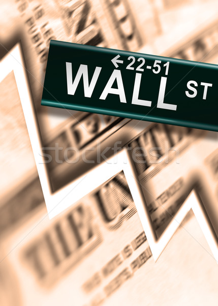 Wall Street grande mundial financieros accidente negocios Foto stock © Hasenonkel