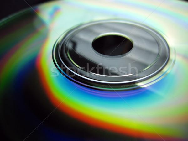 Disco compacto fundo seguro reflexão bocado Foto stock © Hasenonkel