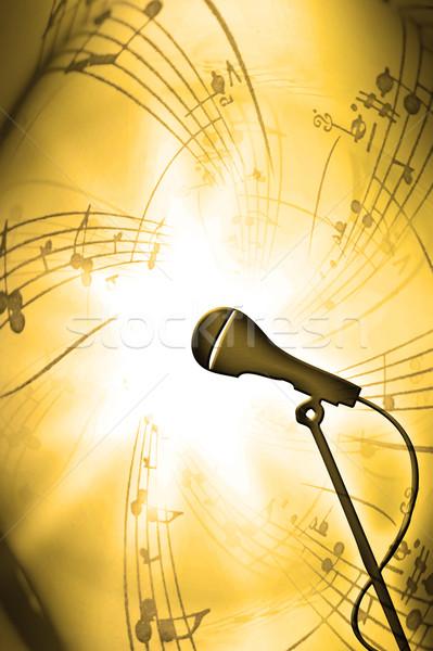 音楽 テクスチャ マイク 手紙 注記 ポスター ストックフォト © Hasenonkel