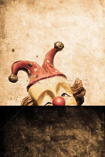 Clown starych funny retro projektu wygląd Zdjęcia stock © Hasenonkel
