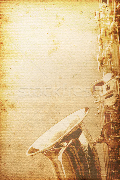 Eski kâğıt küflü hüzün caz müzik Stok fotoğraf © Hasenonkel